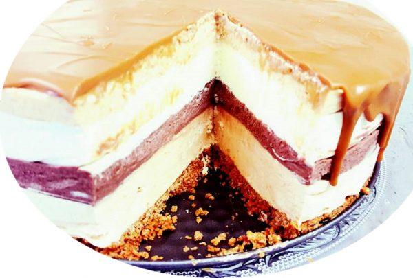 עוגת מוס 4 שכבות