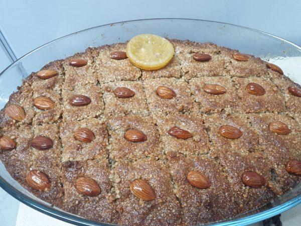 עוגת ספרה ( תיפישטי ) עוגה טורקית פרווה  כשרה לפסח