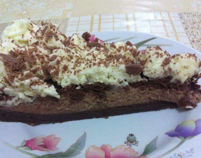 עוגת שוקולד מקופלת
