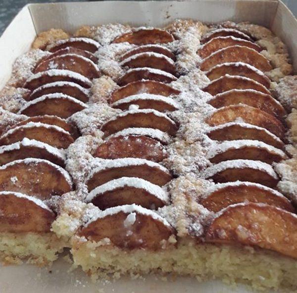 עוגת תפוחים בחושה פרווה