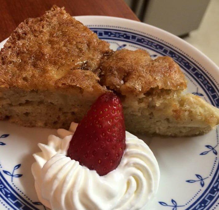 עוגת תפוחים ואגוזים בחושה