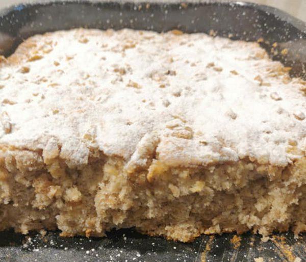 עוגת תפוחים מגורדים פרווה ששווה הכנה