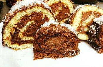 רולדות קצפת/שוקולד