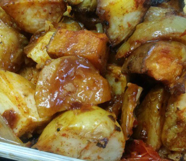 תפוחי אדמה ובטטה בתנור