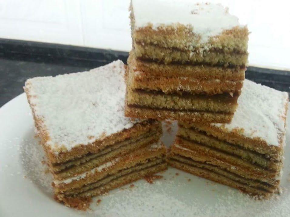עוגת נס קפה שכבות
