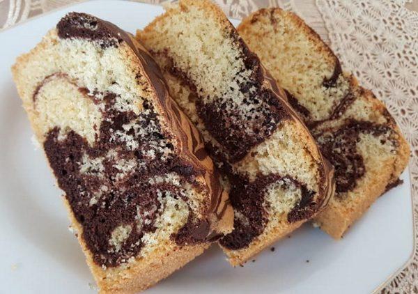 עוגת שיש רכה וטעימה