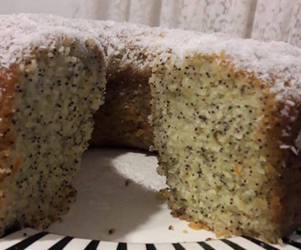 עוגת פרג וקוקוספרווה