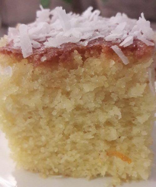 עוגת סולת וקוקוס פרווה נדירה