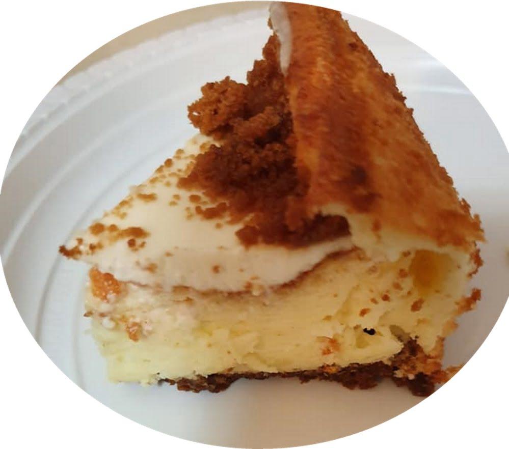עוגת גבינה לוטוס בטעם לימוני