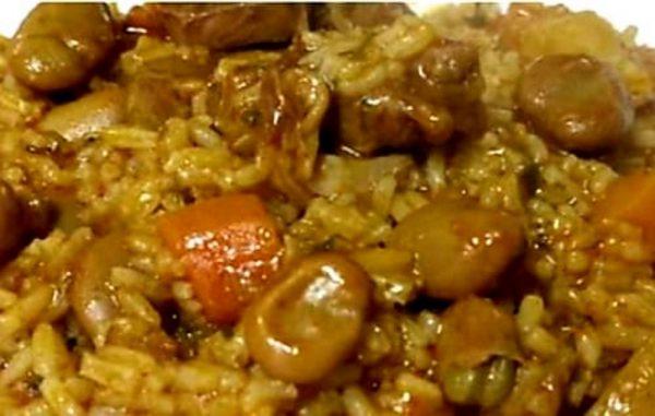 תבשיל כבש אורז וירקות