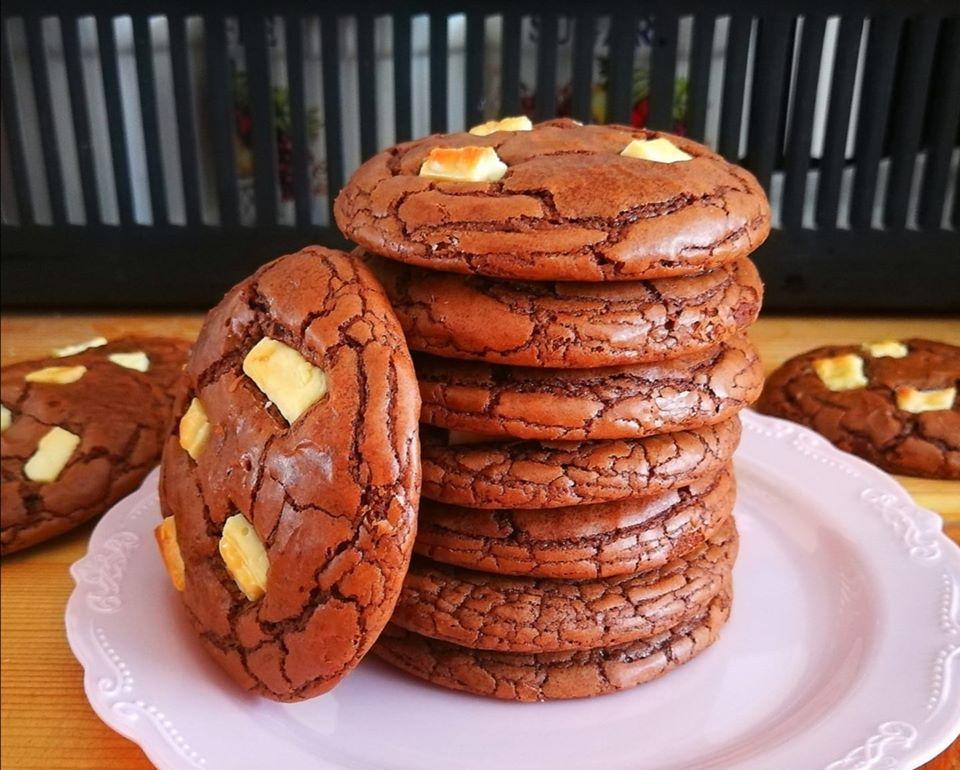 עוגיות שוקולד פאדג' נמסות בפה