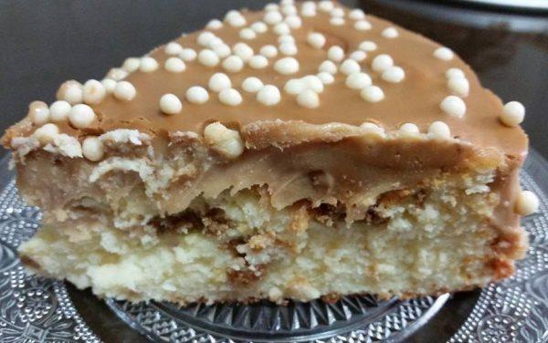 עוגת גבינה אפויה עם שוקולד לבן, קוקוס ולוטוס_אורנה ועלני