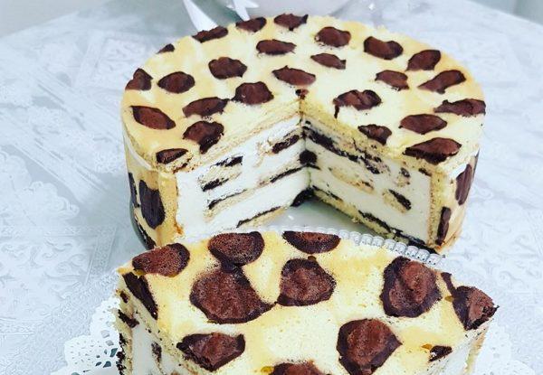 עוגת גבינה מנומרת_מתכון של כרמלה שמואל