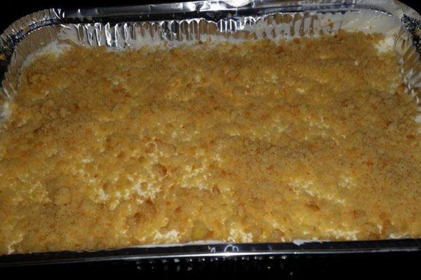 עוגת גבינה פירורים