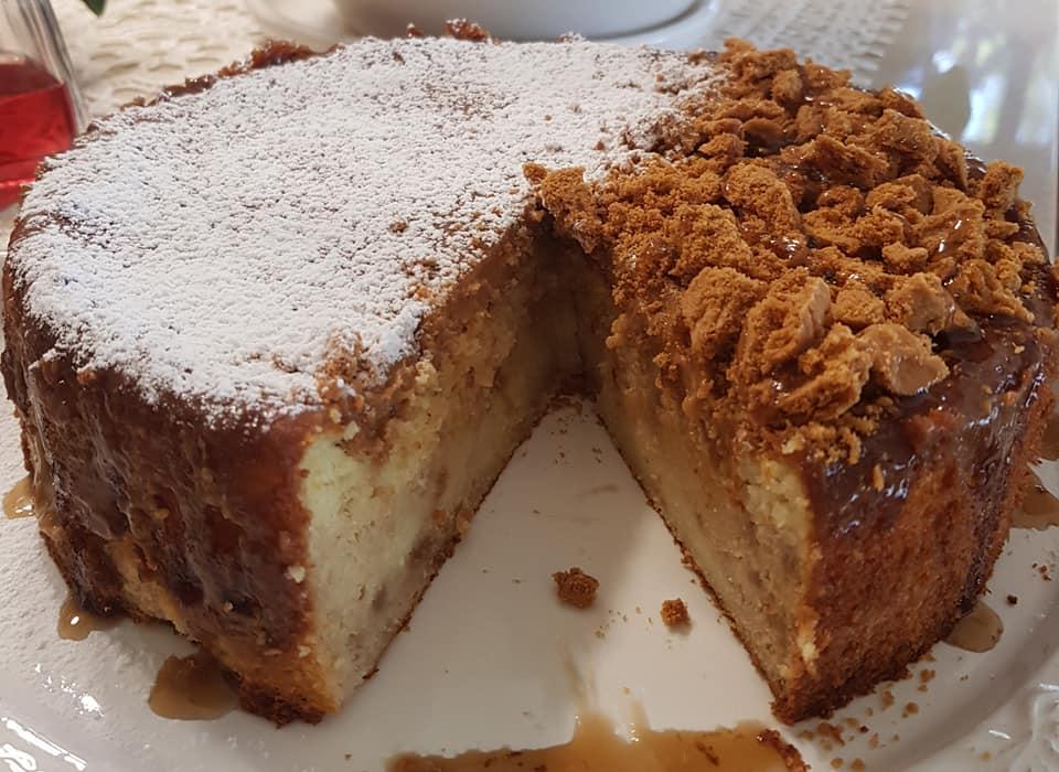 עוגת גבינה , שקדים בציפוי גנאש לוטוס_נורית יונה