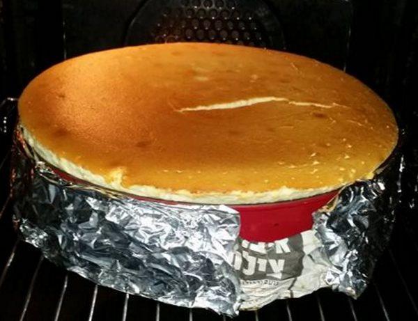 עוגת מוס גבינה אפויה
