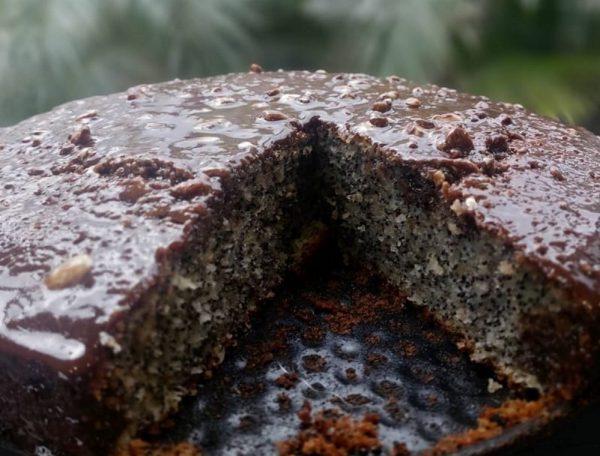 עוגת פרג קוקוס ושוקולד
