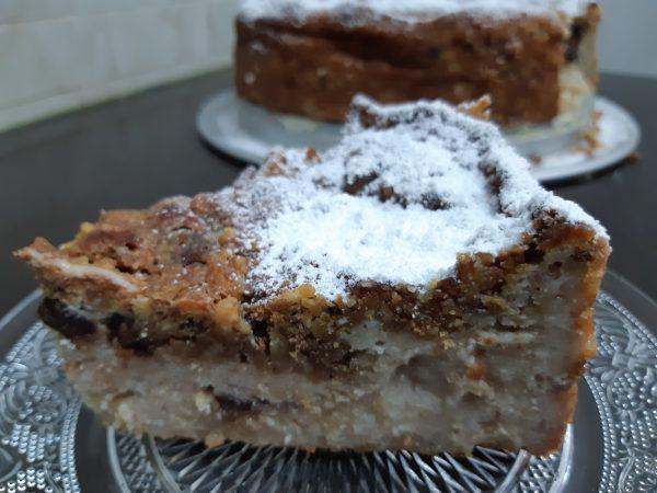 עוגת שמנת וגבינה עם קארמבל אגוזי מלך_אורנה ועלני