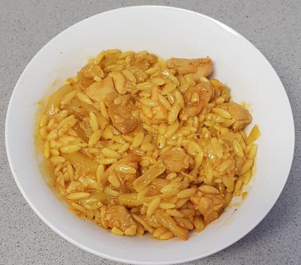 פתיתים שווארמה כרובית ושעועית צהובה