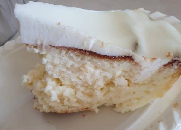 עוגת גבינה מעלפת עם ציפוי עדין