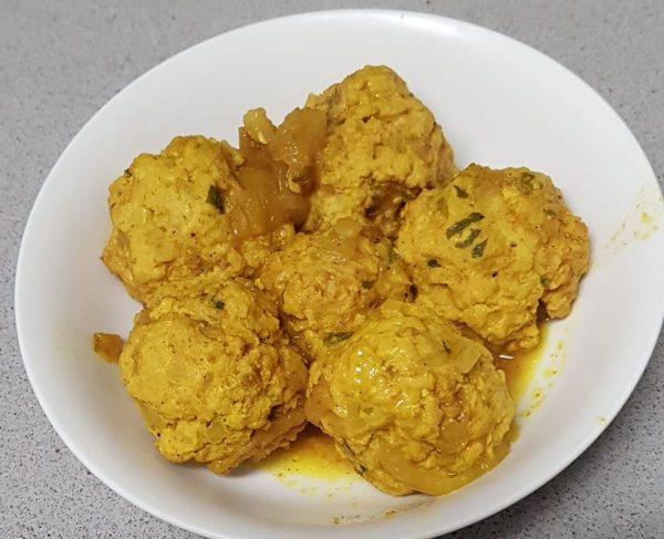 קציצות הודו ברוטב צהוב