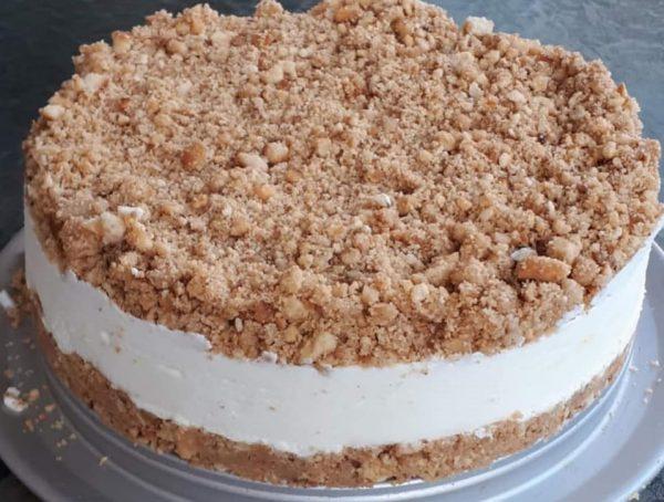 עוגת גבינה פירורים_נאוה מלכה