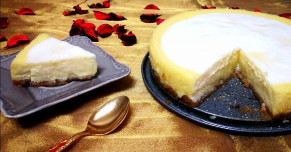 עוגת גבינה בסגנון ניו יורק ללא הקצפה, ללא הפרדת ביצים קרמית ועשירה