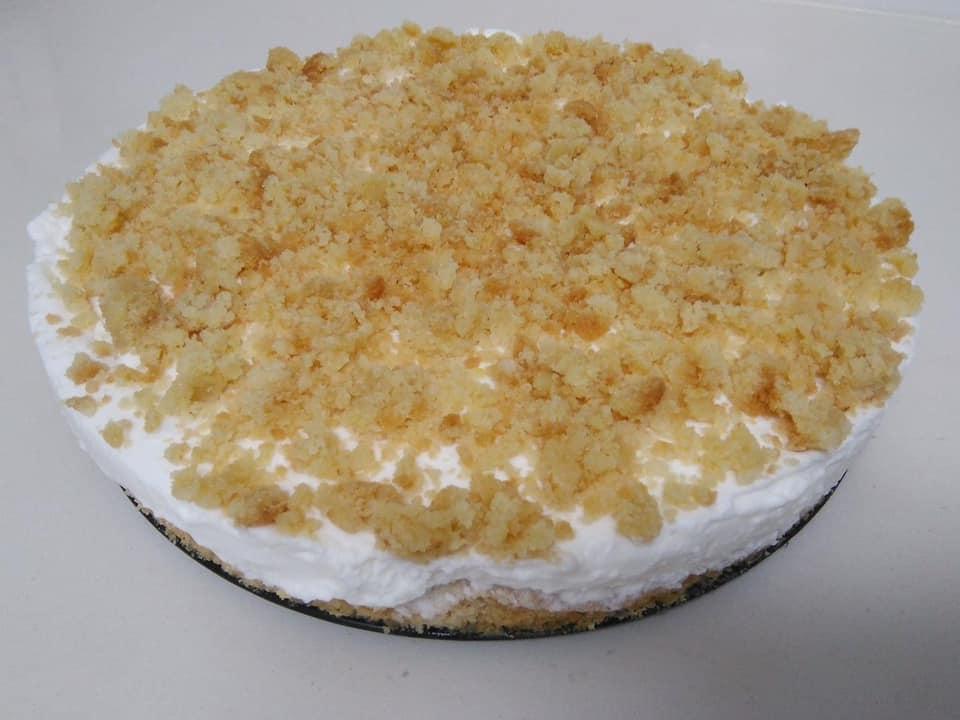 עוגת גבינה שמנת פירורים