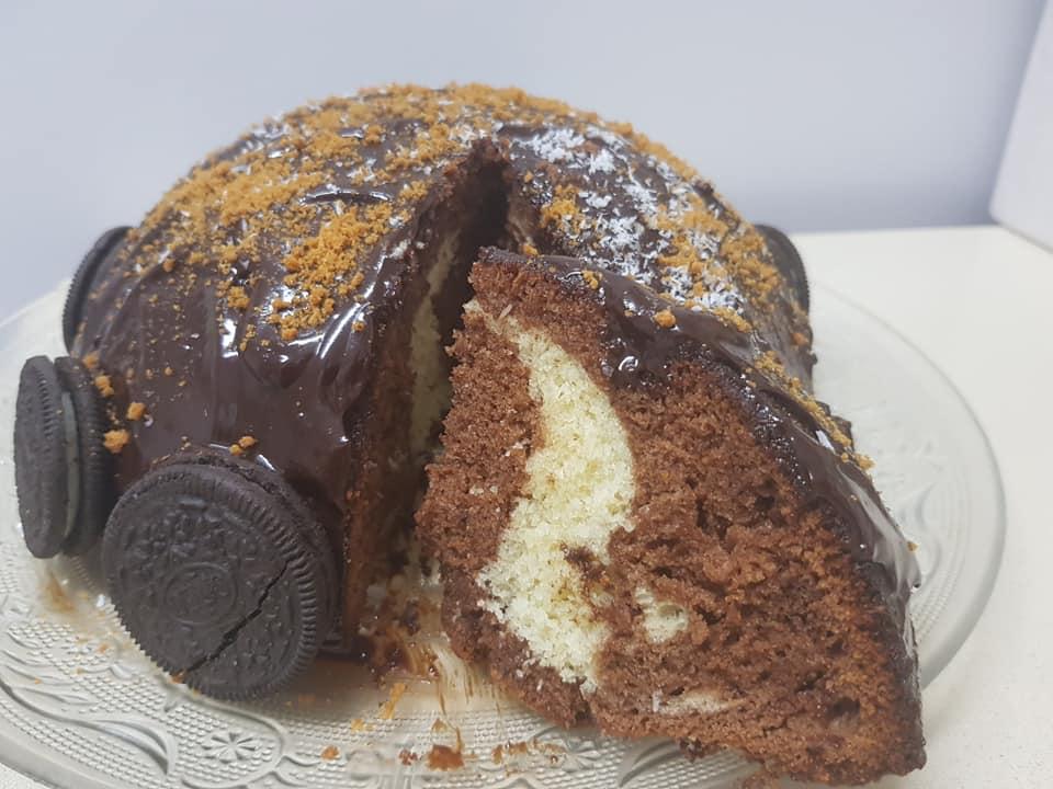 מתכון כתוב + סרטון להכנת עוגת שוקולד וקוקוס_ירדנה ג'נאח