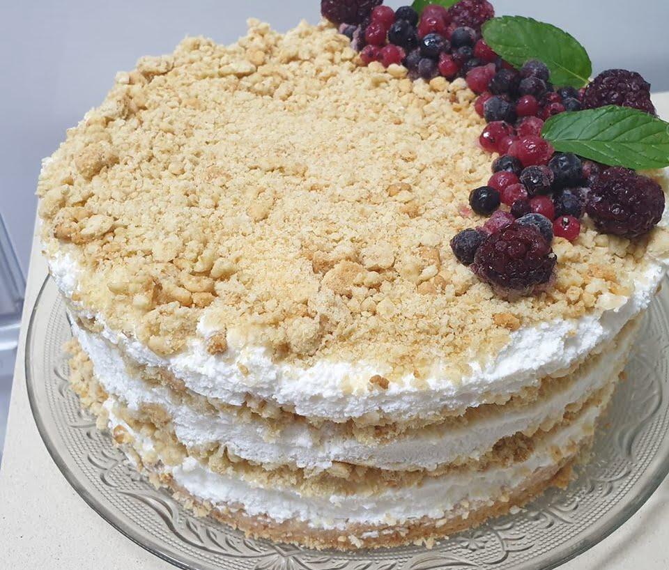 עוגת גבינה ופירורים_ירדנה ג'נאח