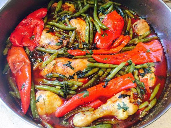 תבשיל עוף עם שעועית ירוקה_עופרה מרציאנו