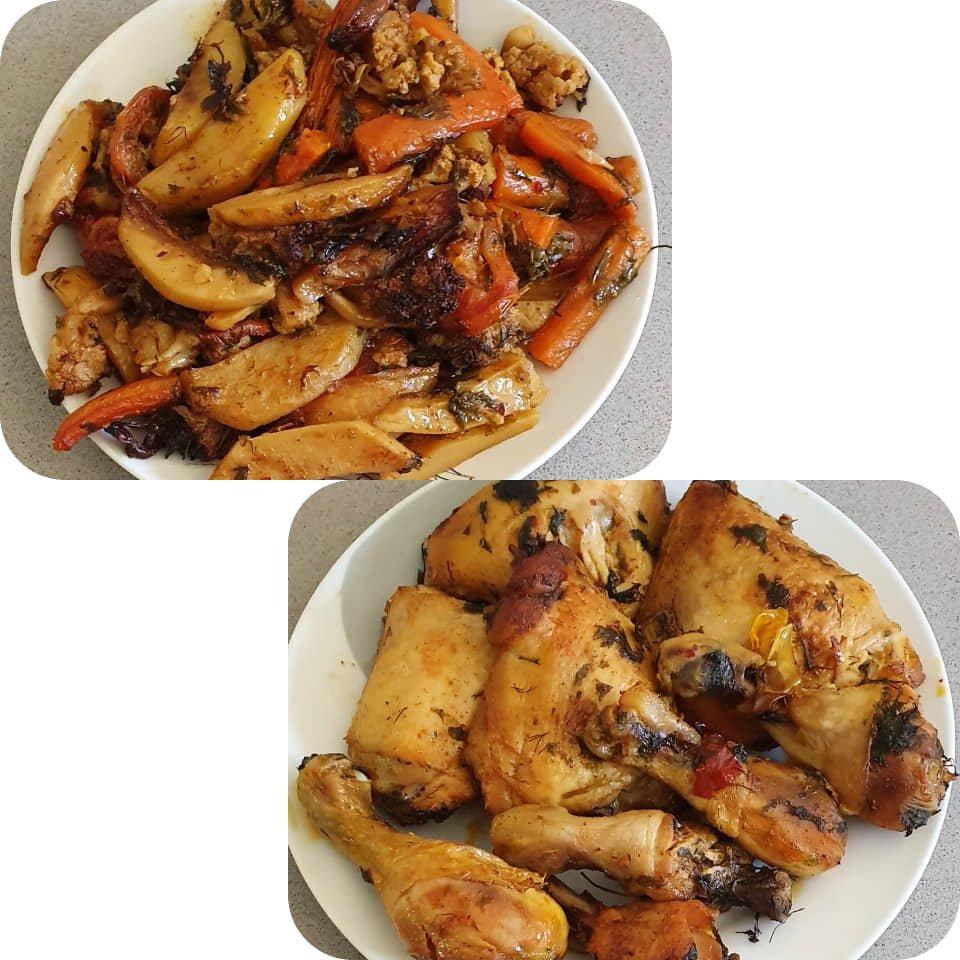 עוף ירקות וירק בתנור_יפה וקס-ברקו