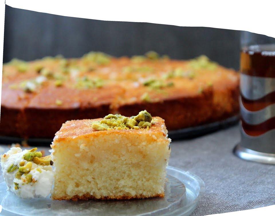 עוגת סולת ויוגורט_מתכון של הילה סמוכה רשתי