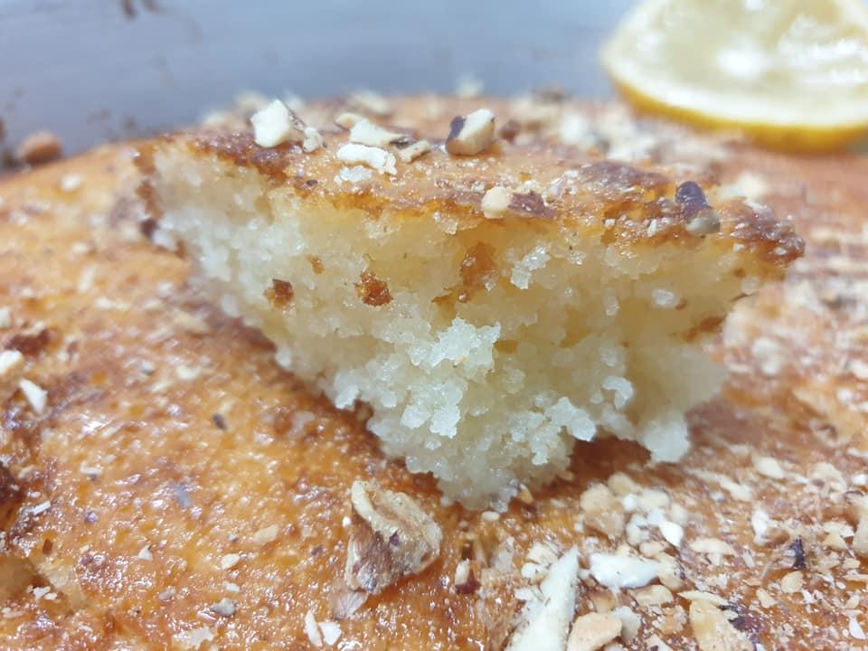 עוגת סולת ויוגורט , מתכון של הילה סמוכה רשתי_ירדנה ג'נאח