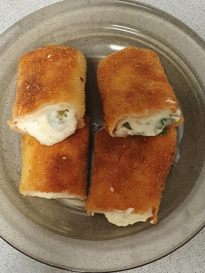 טורטיות מטוגנות במילוי גבינות ובזילקום/זיתים_יפה וקס-ברקו