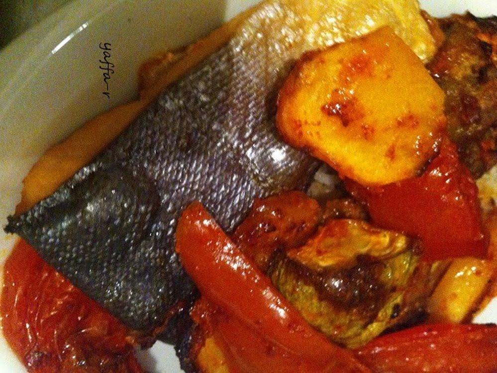דג עם ירקות בתנור_המטבח של יפה רייפלר מתכונים