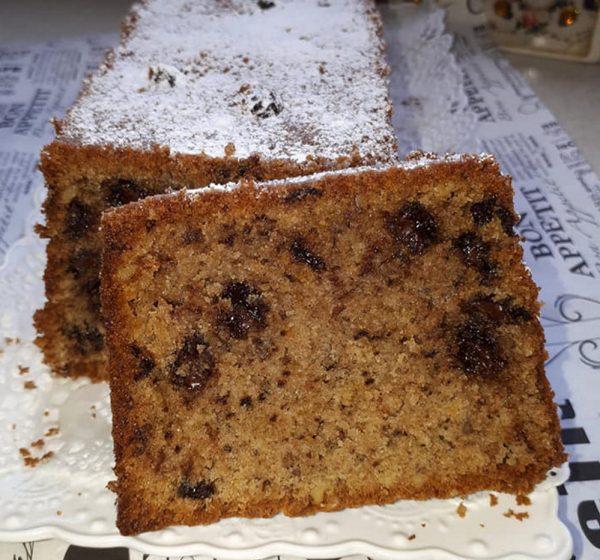 עוגת אגוזים מיץ תפוזים גרידת תפוז שוקולד ציפס כשרה לפסח_מתכון של רחל עינב