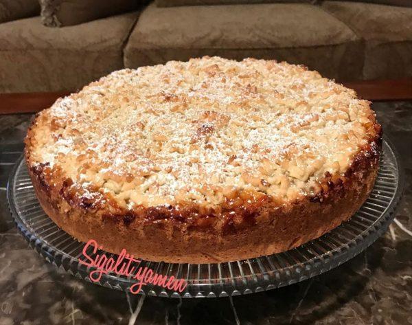 עוגת בצק פריך תפוחים_מתכון של סיגלית ימין