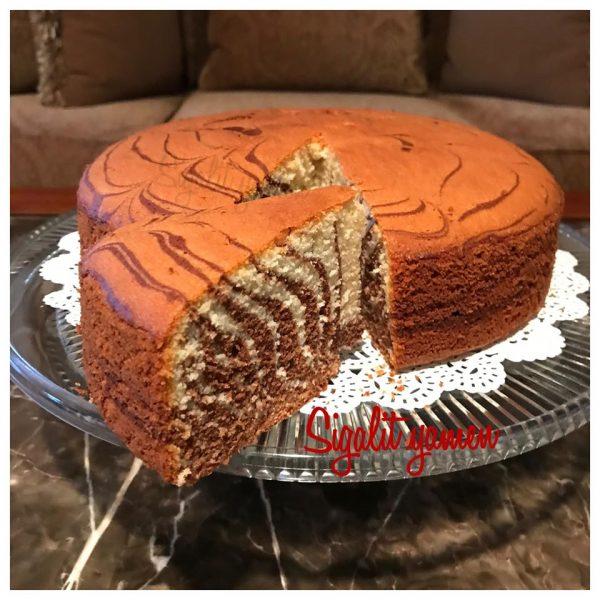 עוגת זברה אוורירית יפייפיה וטעימה_מתכון של סיגלית ימין