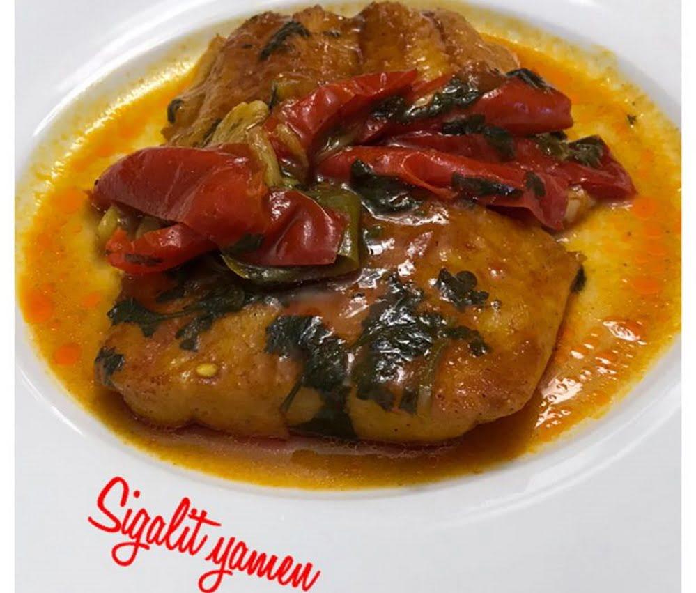 דגים פילה ברוטב עגבניות חריף_מתכון של סיגלית ימין