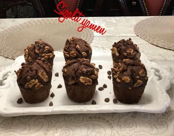 מאפינס שוקולד צ׳יפס אגוזים _מתכון של סיגלית ימין