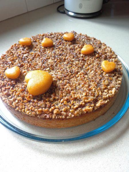 עוגת גבינה אגוזים ומייפל_מתכון של שלומית שחר