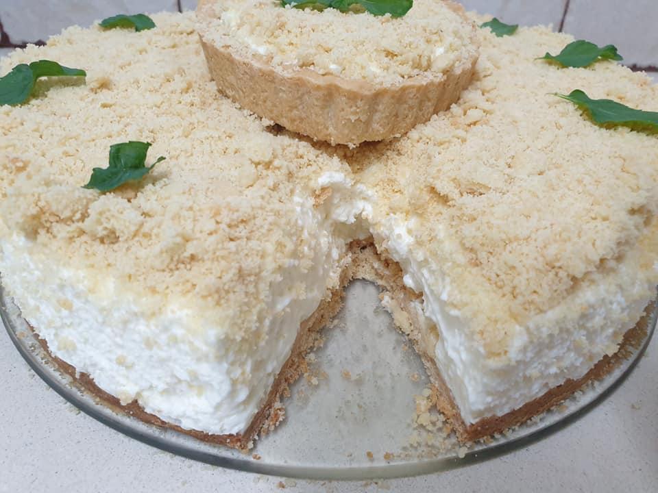 עוגת גבינה ופירורים_מתכון של  ירדנה ג'נאח