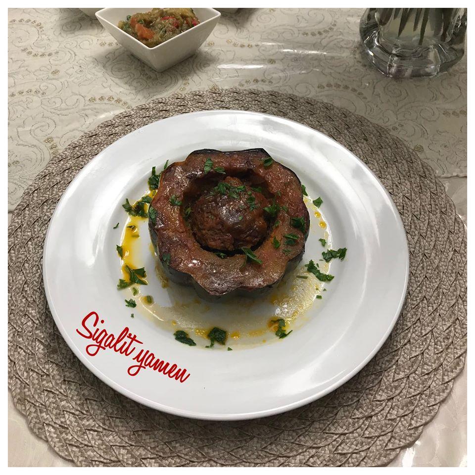 דלעת ערמונים אפויה בתנור במילוי בשר ורוטב עגבניות_מתכון של סיגלית ימין