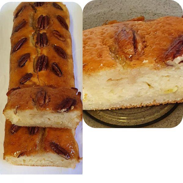 עוגת יוגורט בקישוט חצאי פקאן מעל ובציפוי מייפל_מתכון של יפה וקס-ברקו