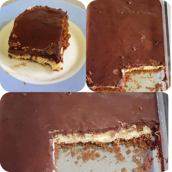 עוגת קצפת בציפוי גנאש על בסיס עוגיות (3 שכבות)_מתכון של יפה וקס-ברקו