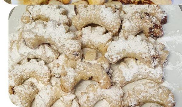 מגולגלות בצורת  סהרון במילוי שוקולד ואגוזים_מתכון של יפה וקס-ברקו