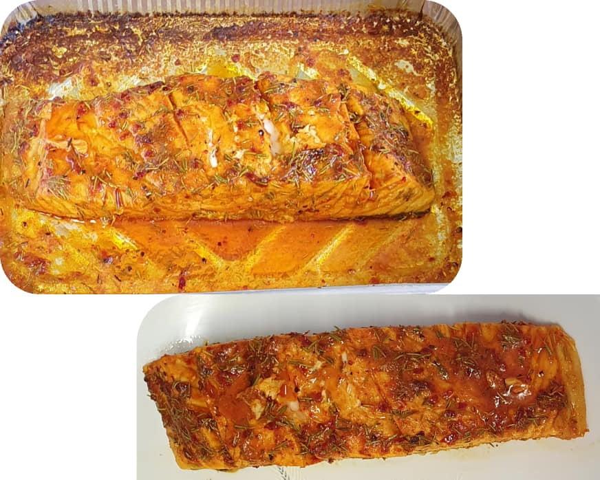 דג סלמון בתנור עם טימין_מתכון של יפה וקס-ברקו