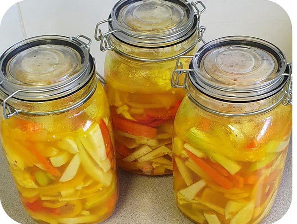 החמצת ירקות עם טורשי_מתכון של יפה וקס ברקו