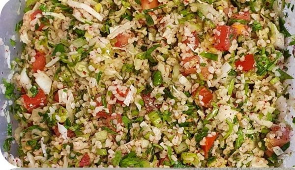 סלט בורגול  ירקות וסומאק